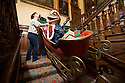 06/11/15<br /> <br /> Toad careers around 'Toad Hall' before being hoisted above the stairwell.<br /> <br /> Inspired by The Wind in The Willows,  this year's Christmas attraction 'Christmas at Chatsworth with Mr Toad' is unveiled today ahead of its official opening tomorrow (Saturday) at Chatsworth House in The Derbyshire Peak District.<br /> <br /> All Rights Reserved: F Stop Press Ltd. +44(0)1335 418365   +44 (0)7765 242650 www.fstoppress.com