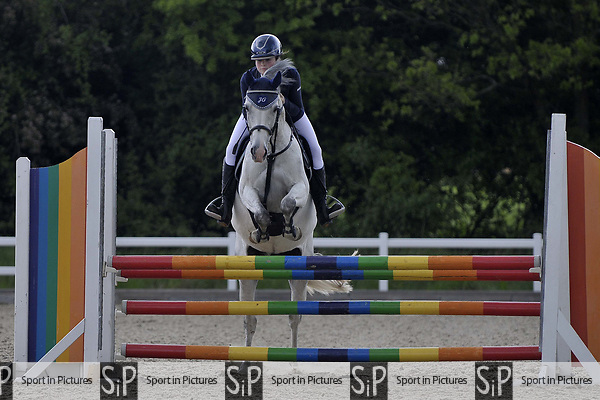 Class 3. Discovery. British Showjumping (BS) Juniors. Brook Farm training centre. Stapleford Abbotts. Essex. 13/05/2017. MANDATORY Credit Garry Bowden/Sportinpictures - NO UNAUTHORISED USE - 07837 394578