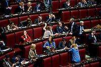 Roma, 31 Gennaio 2014<br /> Camera dei Deputati - Voto sulle pregiudiziali di costituzionalità della legge elettorale<br /> I deputati di Forza Italia, Daniela Santanchè e in alto Renato Brunetta