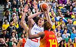 S&ouml;dert&auml;lje 2015-11-21 Basket EM-kval Sverige - Spanien :  <br /> Sveriges Amanda Zahui f&ouml;rs&ouml;ker g&ouml;ra po&auml;ng under matchen mellan Sverige och Spanien <br /> (Foto: Kenta J&ouml;nsson) Nyckelord:  T&auml;ljehallen Basket Landslag Landslaget Dam Damer Dambasket Dambasketlandslaget Basketlandslaget Sverige Sweden Svenska EM Kval EM-kval Spanien Spain Spanska