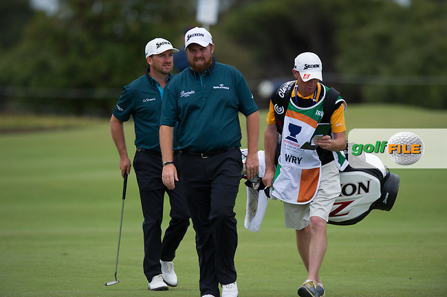 Graeme McDowell (NIR), Shane Lowry (IRL) during the final round at the ISPS Handa World Cup of Golf, from Kingston heath Golf Club, Melbourne Australia. 27/11/2016<br /> Picture: Golffile | Anthony Powter<br /> <br /> <br /> All photo usage must carry mandatory copyright credit (&copy; Golffile | Anthony Powter)