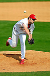 28 February 2007: St. Louis Cardinals pitcher Brian Falkenborg on the mound during a pre-season, Grapefruit League game against the Florida Marlins on Opening Day for Spring Training at Roger Dean Stadium in Jupiter, Florida. The Cardinals and Marlins share Roger Dean Stadium and the training facilities which opened in 1998 as a co-development between the Cardinals and the Montreal Expos.<br /> <br /> Mandatory Photo Credit: Ed Wolfstein Photo