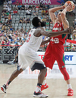 USA's James Harden (l) and Mexico's Marco Ramos during 2014 FIBA Basketball World Cup Round of 16 match.September 6,2014.(ALTERPHOTOS/Acero)