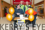 Fund Raising Day: Brothers Daniel & David Stack, Moyvane who suffer from Muscular Dystrophy with their father Michael  & neighbour Mike Keane fund raising for new equipment for the Kerry Rebels Power wheelchair football at Garvey's Super value , Listowel on Saturday last.