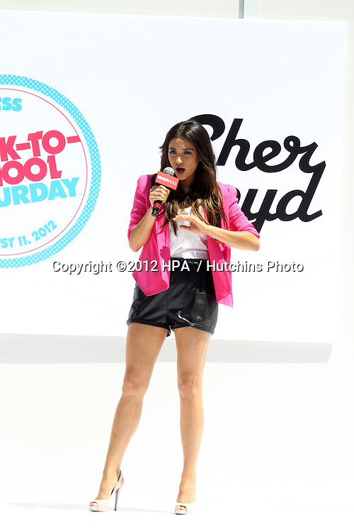 LOS ANGELES - AUG 11:  Shay Mitchell at the TEEN VOGUE's Back-to-School Saturday Event at The Grove on August 11, 2012 in Los Angeles, CA