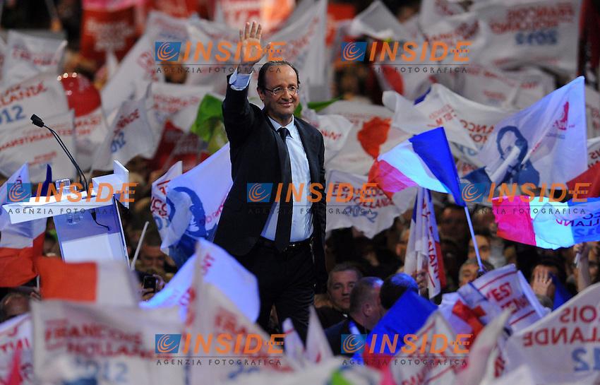 Francois Hollande.Lille 17/4/2012 .Campagna elettorale Elezioni Presidenziali Francia 2012.Foto Insidefoto / Christian Liewig / FEP / Panoramic.ITALY ONLY