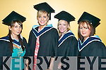 Caroline Flynn, Castlegregory, Loretta Lawlor, Ballyheigue, Samantha Jones, Ballyheigue and Mary O'Donnell from Leath West graduating from Information Systems.