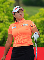 Ha NA Jang (KOR) in action on the 6th during Round 2 of the HSBC Womens Champions 2018 at Sentosa Golf Club on the Friday 2nd March 2018.<br /> Picture:  Thos Caffrey / www.golffile.ie<br /> <br /> All photo usage must carry mandatory copyright credit (&copy; Golffile | Thos Caffrey)