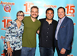 Robyn Goodman, Jeff Marx, Robert Lopez and Kevin McCollum attends the 'Avenue Q' - 15th Anniversary Performance Celebration at Novotel on July 31, 2018 in New York City.