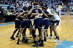 22 January 2017: Notre Dame players huddle before the game. The University of North Carolina Tar Heels hosted the University of Notre Dame Fighting Irish at Carmichael Arena in Chapel Hill, North Carolina in a 2016-17 NCAA Division I Women's Basketball game. Notre Dame won the game 77-55