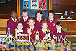 BRIDGES: Some of the Children from Sixt Class Moyderwell Primary School, Tralee on Wednesday morning as pupils degineed some Bridges in conjuction with Science Week. Cian Enright, Philip Falinsk, Klaudia Griciute, Evan Doody, Tomi Cole, Kevin Foley,Gra?inne Klerkin and Ciara McCarthy..   Copyright Kerry's Eye 2008