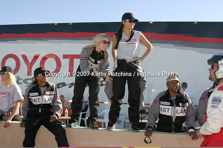Aisha Tyler, Emily Procter, Kelly Hu, & Robin Quivers.2007 Toyota Pro/Celebrity Race Training.Danny McKeever's Fast Lane Racing School.Willow Springs Race Track.Willow Springs, CA  .March 17, 2007.©2007 Kathy Hutchins / Hutchins Photo....