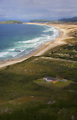 Aerial view looking down Henderson Bay to Grenville & Perforated Points, Far North, Northland, New Zealand.