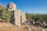 An old church in the village Vrykion in Mani, Greece