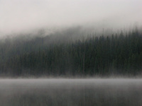 Morning mist on Middle Quartz Lake in Glacier Park, Montana. Photo by Jason Cohn