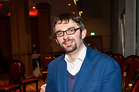 Maurice Fitzpatrick, author, creative director, Creeney Films Ltd, Derryvonny, Belturbet, Co Cavan, Rep of Ireland, at Belfast book launch of John Hume in America: From Derry to DC. 25th January 2018 201801254825<br /><br />Copyright Image from Victor Patterson, 54 Dorchester Park, <br />Belfast, UK, BT9 6RJ<br /><br />t1: +44 28 9066 1296 (from Rep of Ireland 048 9066 1296)<br />t2: +44 28 9002 2446 (from Rep of Ireland 048 9002 2446)<br />m: +44 7802 353836<br /><br />victorpatterson@me.com<br />www.victorpatterson.com<br /><br />Please see my Terms and Conditions of Use at VICTORPATTERSON.COM. It is IMPORTANT that you familiarise yourself with them.<br /><br />Images used on the Internet must be visibly watermarked i.e. &copy;VICTORPATTERSON.COM within the body of the image and copyright metadata must not be deleted. Images used on the Internet have a size restriction of 4kbs and are chargeable at the then current NUJ rates.<br /><br />This image is only available for the use of the download recipient i.e. television station, newspaper, magazine, book publisher, etc, and must not be passed on to any third party. It is also downloaded on condition that each and every usage is notified within 7 days to victorpatterson@me.com<br /><br />The right of Victor Patterson to be identified as the author is asserted in accordance with The Copyright Designs And Patents Act (1988).