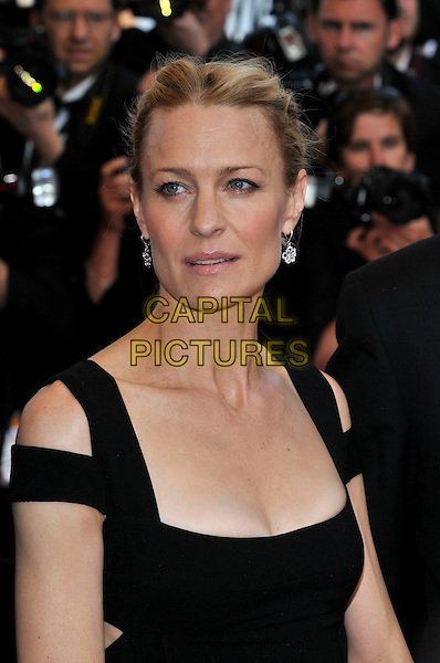 ROBIN WRIGHT PENN.'Vengance' screening.62nd International Cannes Film Festival.Cannes, France. 17th May 2009.portrait headshot black cut out shoulders hair up earrings silver diamond flowers .CAP/PL.©Phil Loftus/Capital Pictures