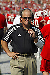 Madison, Wisconsin - 9/6/2003.  University of Wisconsin defensive coordinator Kevin Cosgrove during the Akron game at Camp Randall. Wisconsin beat Akron 48-31. (Photo by David Stluka).