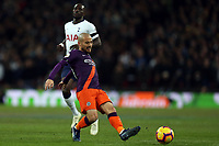 David Silva of Manchester City and Moussa Sissoko of Tottenham Hotspur during Tottenham Hotspur vs Manchester City, Premier League Football at Wembley Stadium on 29th October 2018