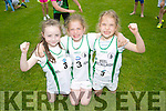 l-r  Erin Evans, Rachel Boyle and Shona Flynn from Keel. at the An Riocht  Community Games in Castleisland on Saturday