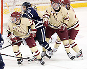 Bill Arnold (BC - 24), Stevie Moses (UNH - 22), Patrick Wey (BC - 6), Tommy Cross (BC - 4) - The Boston College Eagles defeated the visiting University of New Hampshire Wildcats 4-3 on Friday, January 27, 2012, in the first game of a back-to-back home and home at Kelley Rink/Conte Forum in Chestnut Hill, Massachusetts.