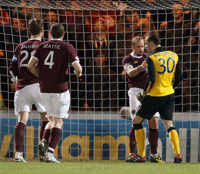 Jamie MacDonald takes the acclaim after his penalty save