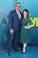 "LOS ANGELES, CA - August 06, 2018: Kate Flannery & Chris Haston at the US premiere of ""The Meg"" at the TCL Chinese Theatre"