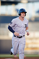 Tampa Yankees center fielder Trey Amburgey (17) running the bases during a game against the Palm Beach Cardinals on July 25, 2017 at George M. Steinbrenner Field in Tampa, Florida.  Tampa defeated Palm beach 7-6.  (Mike Janes/Four Seam Images)
