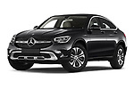 Stock pictures of low aggressive front three quarter view of 2020 Mercedes Benz GLC-Coupe - 5 Door SUV Low Aggressive