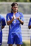 04 September 2011: SMU's Diogo de Almeida (BRA). The Southern Methodist University Mustangs defeated the Duke University Blue Devils 1-0 in overtime at Koskinen Stadium in Durham, North Carolina in an NCAA Division I Men's Soccer game.