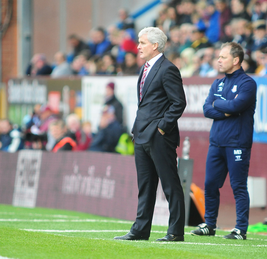 Stoke City manager Mark Hughes <br /> <br /> Photographer Andrew Vaughan/CameraSport<br /> <br /> Football - Barclays Premiership - Burnley v Stoke City - Saturday 16th May 2015 - Turf Moor - Burnley<br /> <br /> &copy; CameraSport - 43 Linden Ave. Countesthorpe. Leicester. England. LE8 5PG - Tel: +44 (0) 116 277 4147 - admin@camerasport.com - www.camerasport.com