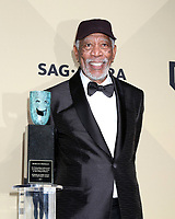 LOS ANGELES - JAN 21:  Morgan Freeman at the 24th Screen Actors Guild Awards - Press Room at Shrine Auditorium on January 21, 2018 in Los Angeles, CA