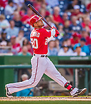 19 September 2015: Washington Nationals shortstop Ian Desmond in action against the Miami Marlins at Nationals Park in Washington, DC. The Nationals defeated the Marlins 5-2 in the third game of their 4-game series. Mandatory Credit: Ed Wolfstein Photo *** RAW (NEF) Image File Available ***