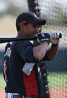 Tony Pena Jr. of the Atlanta Braves vs. the St. Louis Cardinals March 16th, 2007 at Champion Stadium in Orlando, FL during Spring Training action.  Photo By Mike Janes/Four Seam Images