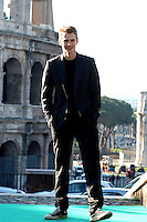 """HAYDEN CHRISTENSEN.Photocall for """"Jumper"""", Rome, Italy..February 6th, 2008.full length black jacket converse trainers sneakers hands in pocket.CAP/CAV.©Luca Cavallari/Capital Pictures."""