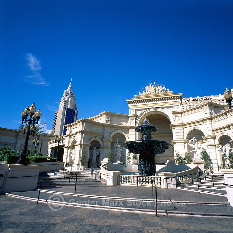 Las Vegas, Nevada, USA - Monte Carlo Resort and Casino along The Strip (Las Vegas Boulevard)