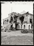 ERITREA, Massawa, a bombed Massawa Palace in the port town of Massawa (B&W)