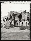 ERITREA, Massawa, a bombed Massawa Palace in the port town of Massawa (B&W)