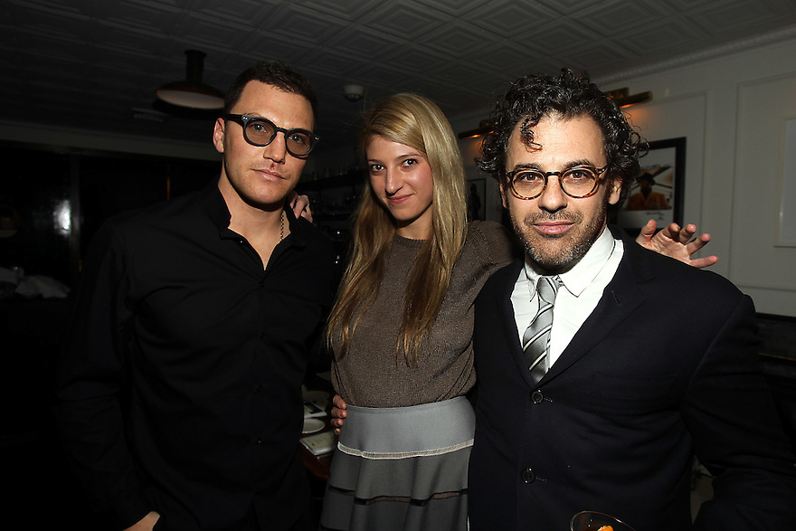 Sean Avery ( host of the diner) Sarah Hoover and Tom Sachs attends the Gilt Man diner at the Fedora in New York City on February 16,2011. ( Donald Traill/ Wall Street Journal) 10770 Gilt Man Diner
