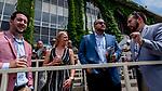 June 8, 2019 : Fans drink on Belmont Stakes Festival Saturday at Belmont Park in Elmont, New York. Scott Serio/Eclipse Sportswire/CSM