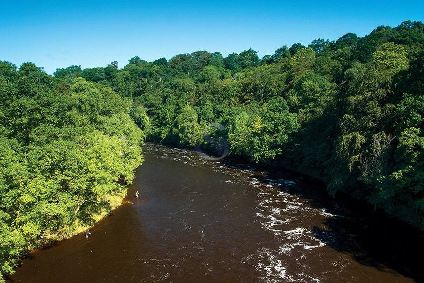 The River Clyde from the David Livingstone Memorial Footbridge near Bothwell, South Lanarkshire
