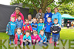 Fiona's Preschool attending the activities at Féile na mBláth in the Tralee Town Park on Friday.