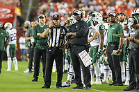 Landover, MD - August 16, 2018: New York Jets head coach Todd Bowles during the preseason game between New York Jets and Washington Redskins at FedEx Field in Landover, MD.   (Photo by Elliott Brown/Media Images International)