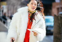 Tina Leung attends Day 4 of New York Fashion Week on Feb 15, 2015 (Photo by Hunter Abrams/Guest of a Guest)