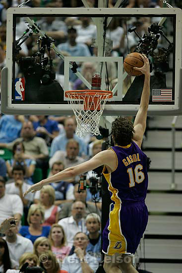 Utah Jazz vs. Los Angeles Lakers, game six, NBA playoffs second round, Friday, May 16, 2008. pau gasol