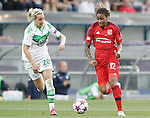 VfL Wolfsburg's Lena Goessling (l) and Olympique Lyonnais' Elodie Thomis during UEFA Women's Champions League 2015/2016 Final match.May 26,2016. (ALTERPHOTOS/Acero)