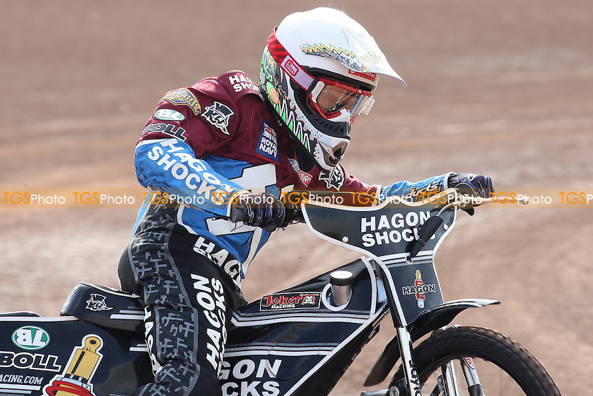 Lee Richardson of Lakeside Hammers in racing action - Lakeside Hammers Speedway Press & Practice Day at Arena Essex Raceway, Purfleet - 20/03/12 - MANDATORY CREDIT: Gavin Ellis/TGSPHOTO - Self billing applies where appropriate - 0845 094 6026 - contact@tgsphoto.co.uk - NO UNPAID USE.