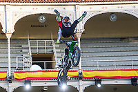 Finnish Fmx rider Sebastian Westberg during qualifying Red Bull X-Fighters 2016 at Madrid. 22,06,2016. (ALTERPHOTOS/Rodrigo Jimenez)