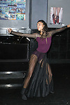 Fine artist, dancer, actress, Cajai Fellows Johnson performs at the Art of Persuasion event at Beautique on 8 West 58 Street, in New York City on November 19, 2016.