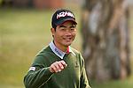 Liang Wenchong of China tees off the first hole during the 58th UBS Hong Kong Golf Open as part of the European Tour on 10 December 2016, at the Hong Kong Golf Club, Fanling, Hong Kong, China. Photo by Marcio Rodrigo Machado / Power Sport Images